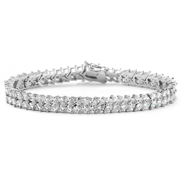 Elegant Cubic Zirconia Wedding or Evening Bracelet