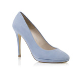 Amy Misty Blue Kid Suede