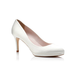 Amy Mid Ivory Satin