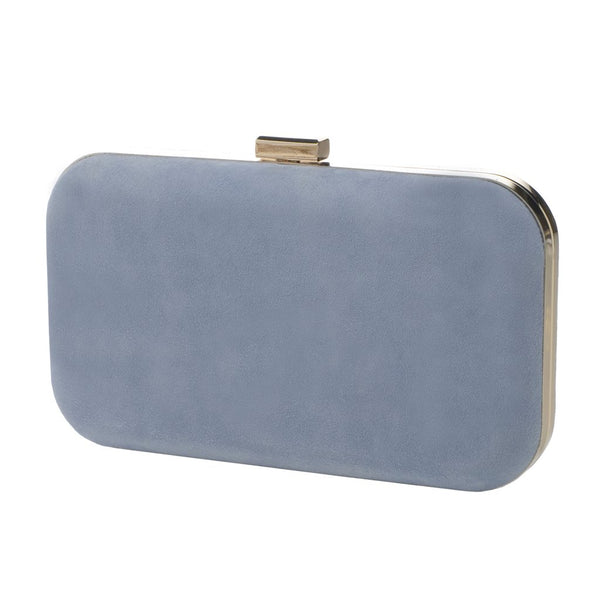 Amelia Blue Clutch Suede