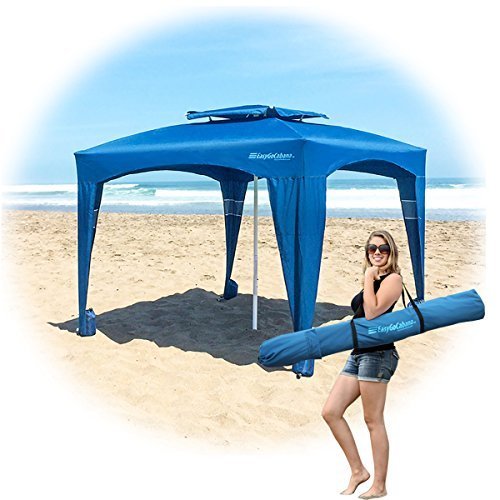 EasyGo Cabana -Beach & Sports Cabana keeps you Cool and Comfortable. Easy Set-up and Take Down. Large Shade Area. More Elegant & Classier than Beach Umbrella