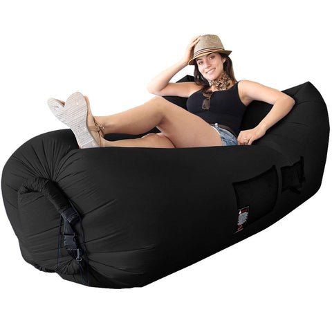 WooHoo 2.0 Giant Inflatable Lounger Chair with Carry Bag. Inflates in Seconds. Hangout as Lounge Chair, Bean Bag, Air Hammock, Sofa, Couch, Air Bag. NEW MODEL PATENT PENDING