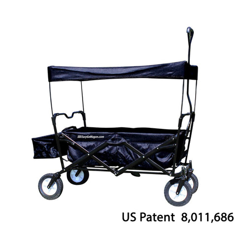 EasyGo Wagon Pull Along Wagon. Unique Folding Design is more portable than Red Flyer. Fits in trunk of Standard Car