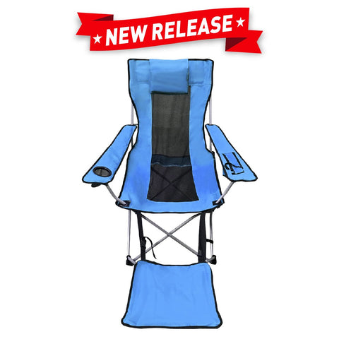 EasyGo Camping Chair Lightweight Foldable Reclining Leg Rest Chair