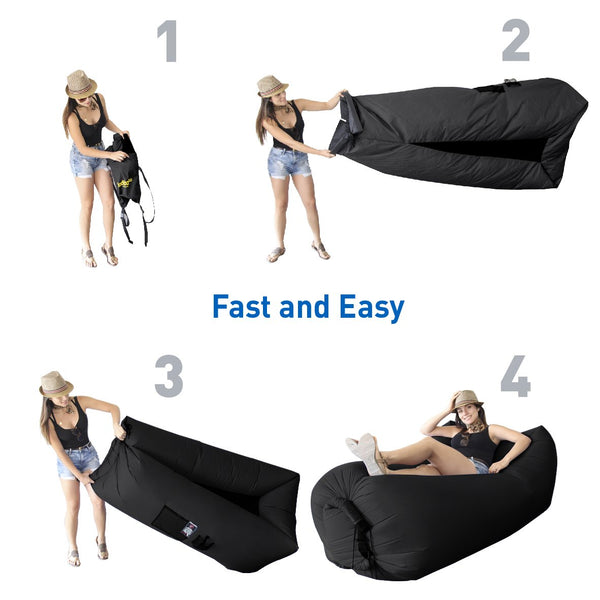 Best Selling WooHoo 3.0 Giant Outdoor Inflatable Lounger Carry Bag