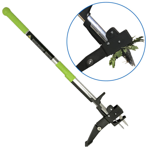 Weeding Wand Tool - Standing Weed Pulling Tool - Weeding Root Puller and Killer - Stand Up No Bending Down Weeder - Great for: Dandelions and large and Small Weeds - Patent Pending