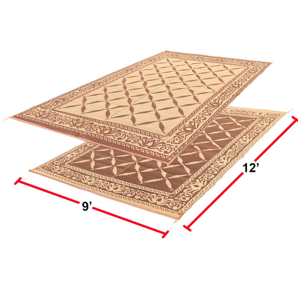 RV Camping Mats - Outdoor Patio Mat - Reversible RV Mat - Carrying Strap