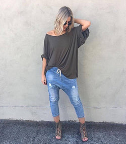 Distressed Denim Jeans - MW Boutique