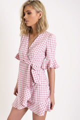 Checked Out Dress - MW Boutique