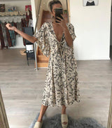 Snow Leopard Print Dress - MW Boutique