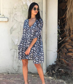 Molly Mini Dress - Navy - MW Boutique