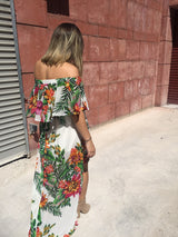 White Tropics Dress - MW Boutique