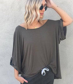 Jersey Slouch Top - MW Boutique
