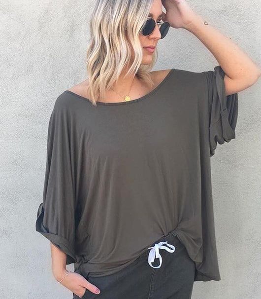Jersey Slouch Top
