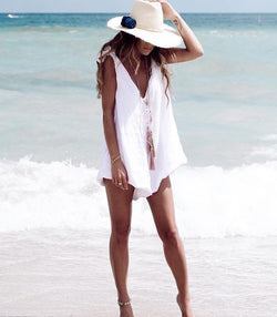 Drifter Playsuit White - MW Boutique
