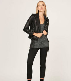 Without Him Biker Jacket - MW Boutique