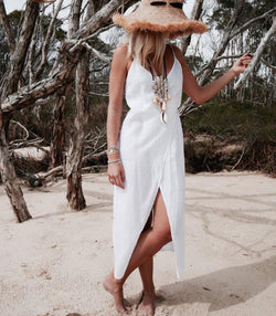 Linen Wrap Dress - MW Boutique