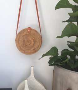 Round Straw Shoulder Bag - MW Boutique