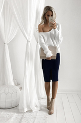 Hudson Knit - White - MW Boutique
