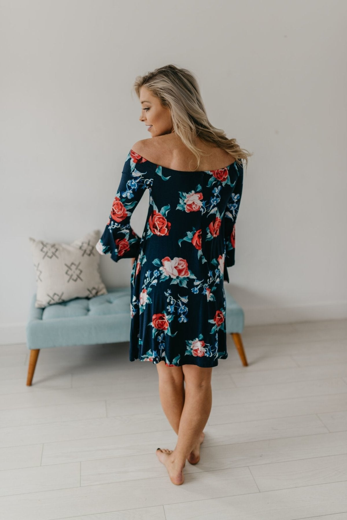 Bella Floral Off Shoulder Dress