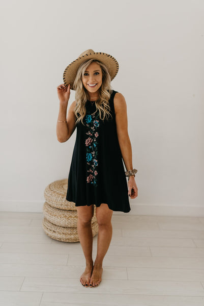 Finley Floral Accent Tank Dress