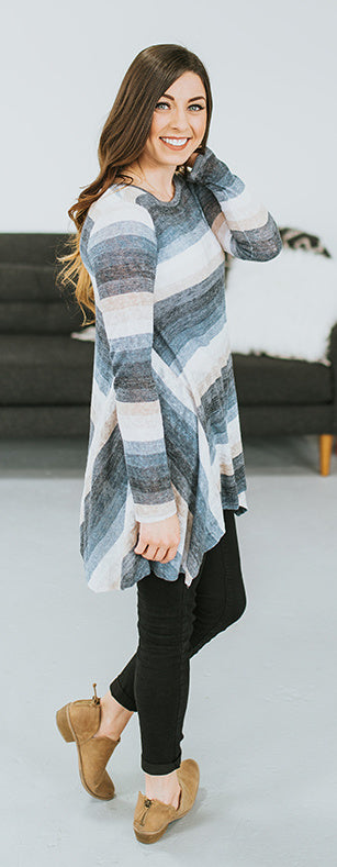 Willow Striped Sharkbite Tunic