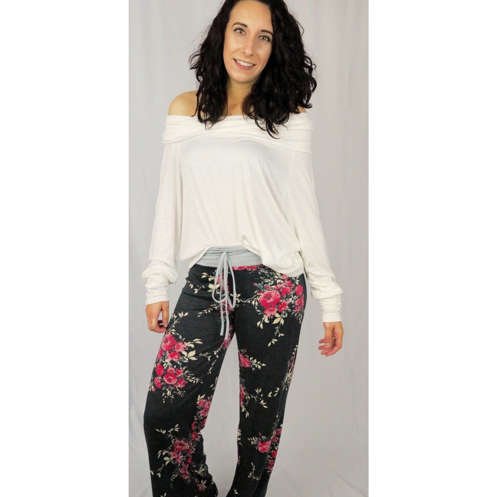 Floral Print Casual Lounge Pants