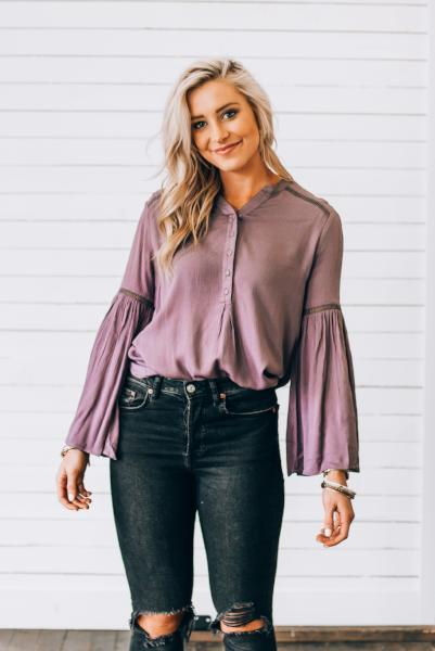 Malia Long Bell Sleeve Top