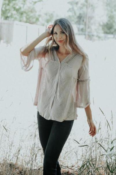 Ruby Bohemian Top With Lace