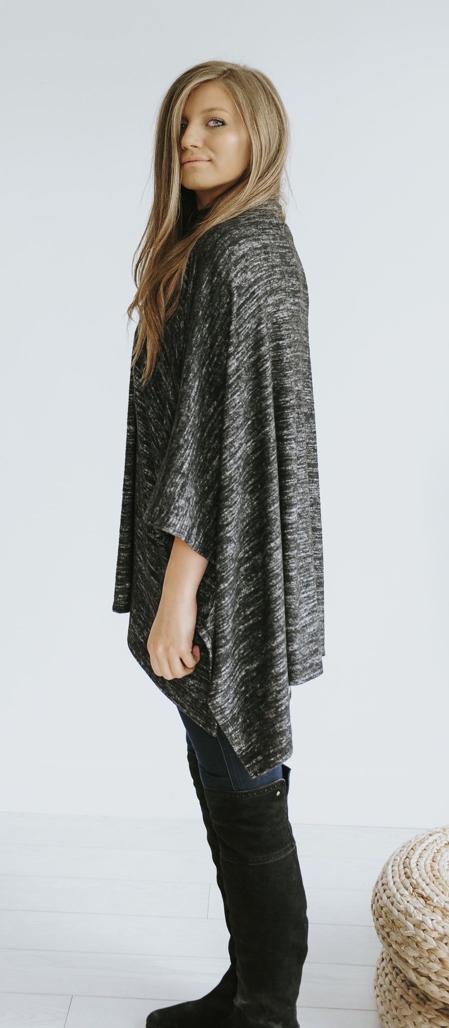 Ava Turtleneck Sweater Poncho