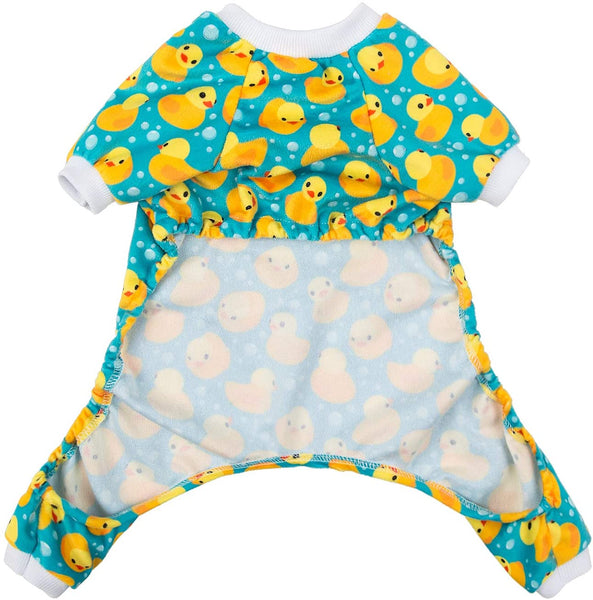 Rubber Duckie Dog Pajama Jumpsuit