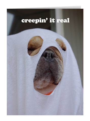Creepin' It Real Greeting Card