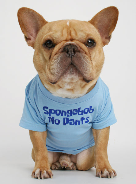 Spongebob No Pants Dog Tee