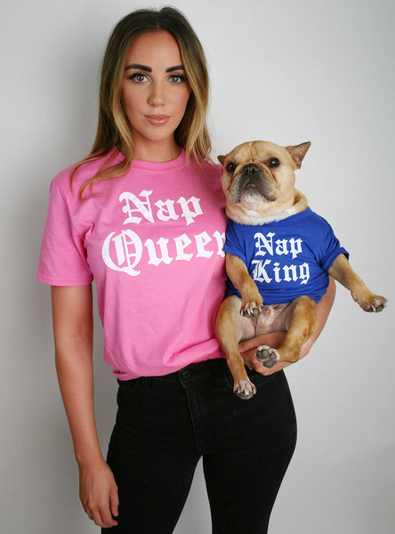 Nap Queen + Nap King Matching T-Shirt Set