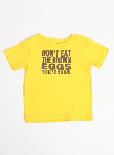 Don't Eat Brown Eggs Dog Tee