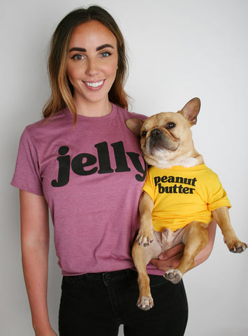 Peanut Butter + Jelly Matching T-Shirt Set