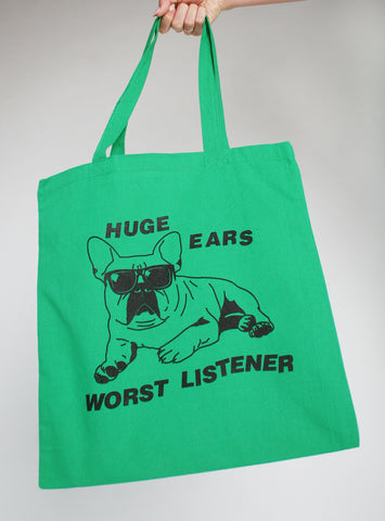 Huge Ears Worst Listener Tote Bag
