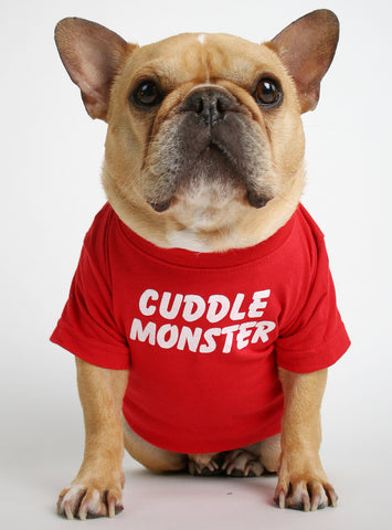 Cuddle Monster Dog Tee