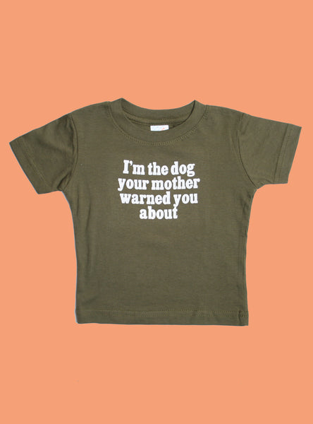 WARNED YOU DOG TEE