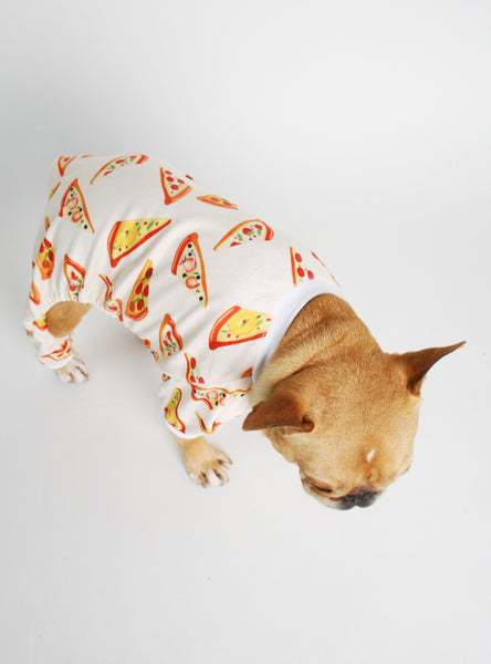 Pizza Party Dog Pajama Jumpsuit