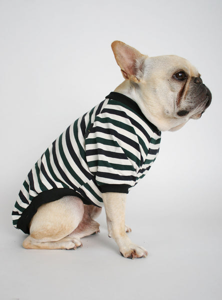 The Jules Striped Dog Tee