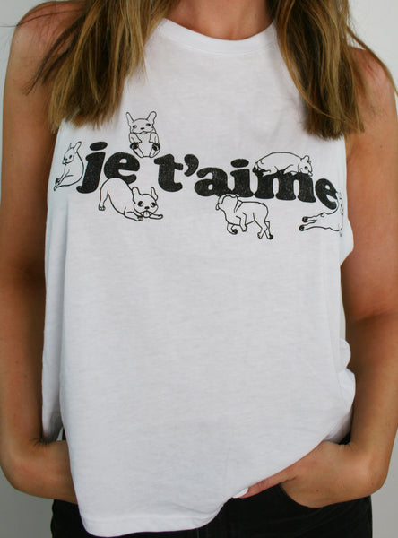 Je T'aime Crop Top Tee