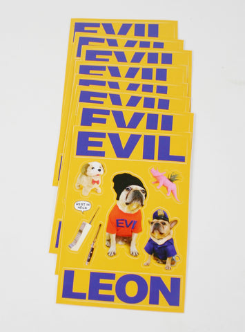 EVIL LEON STICKER SHEET