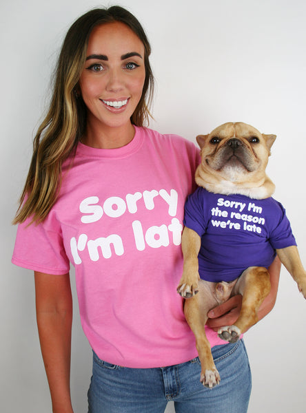 Sorry We're Late Matching T-Shirt Set