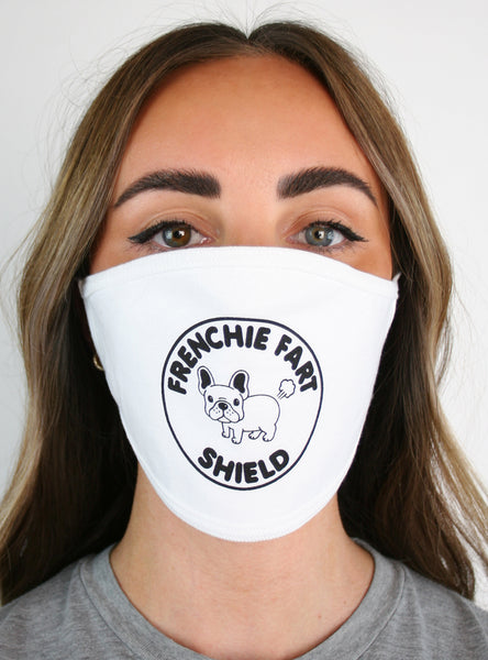 Frenchie Fart Shield Ear Loop Mask