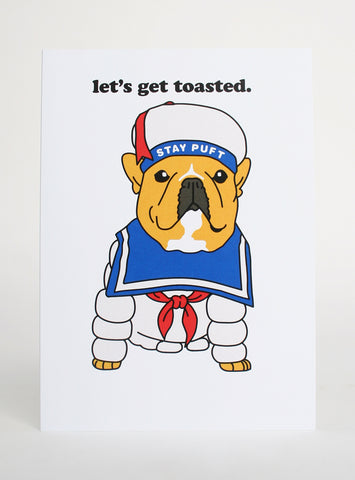 LET'S GET TOASTED GREETING CARD