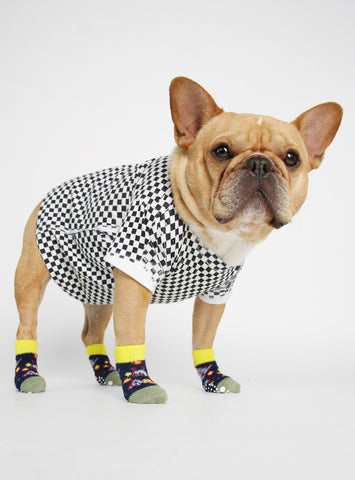 THE SPACE INVADER DOG SOCKS