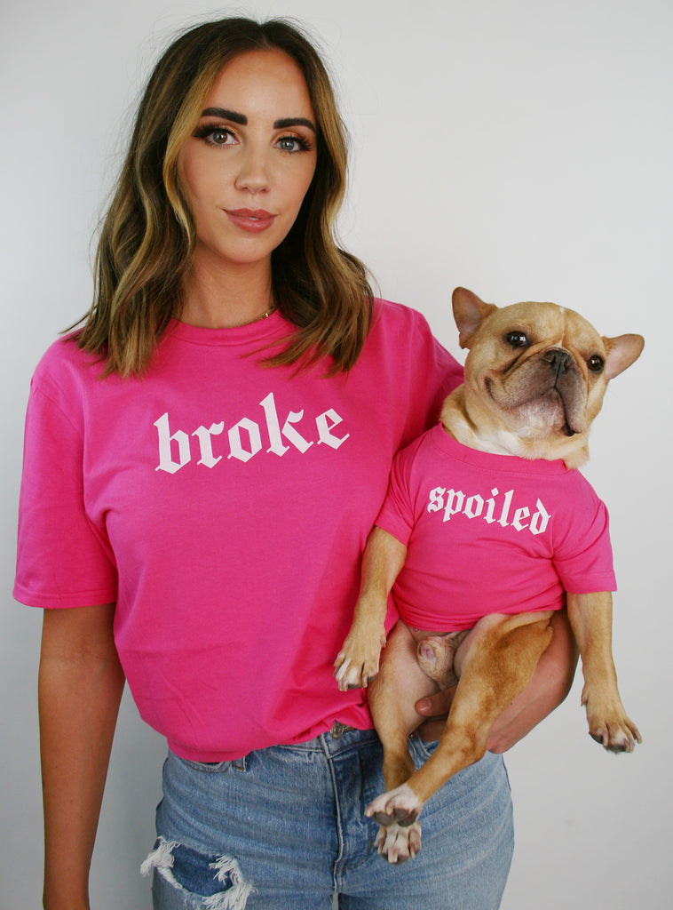 Broke + Spoiled Matching T-Shirt Set