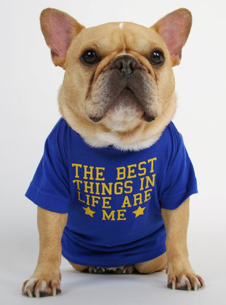 The Best Things in Life Are Me Dog Tee
