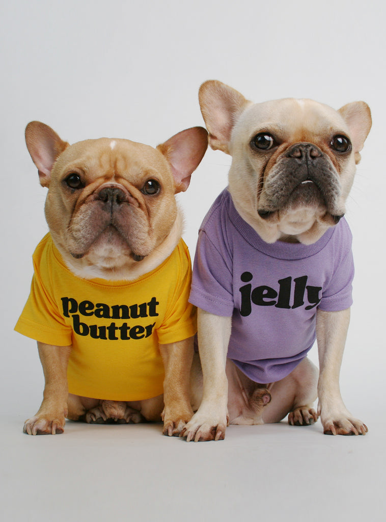 Peanut Butter + Jelly (2-Pack) Dog Tee